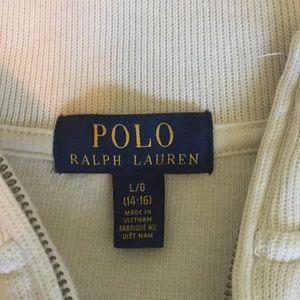 Boys Polo 1/4 Zip Cream Sweater